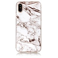Marmeren TPU hoesje iPhone X XS Witte marble case cover