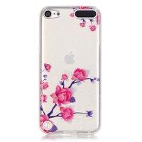 Doorzichtig bloemen hoesje iPod Touch 5 6 7 case takken paars roze