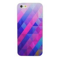 Blauw paarse driehoek iPhone 5 5s SE hardcase hoesje
