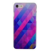 Blauw paarse driehoek iPhone 7 8 hardcase hoesje cover