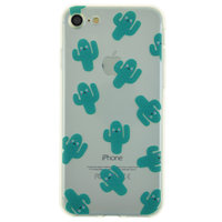 Doorzichtig cactus TPU hoesje iPhone 7 8 case cover