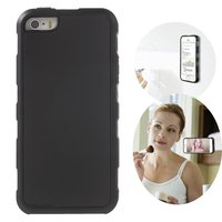 Anti Gravity case hands free selfie cover zwart iPhone 5 5s SE 2016 hoes nano coating