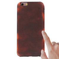 Thermal Fluorescerend color changing TPU iPhone 6 6s hoesje case cover rood
