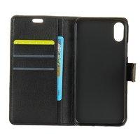 Wallet zwart iPhone X portemonnee hoes lederen black book case