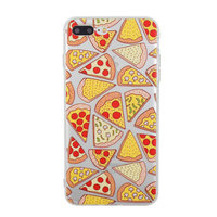 Transparant Pizza hoesje iPhone 7 Plus 8 Plus case cover doorzichtig