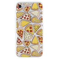 Transparant Pizza hoesje iPhone 7 8 case cover doorzichtig TPU