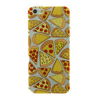 Transparant Pizza hoesje iPhone 5 5s SE case cover TPU doorzichtig