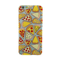Transparant Pizza hoesje iPhone 6 Plus 6s Plus case cover TPU cover