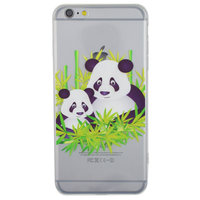 Doorzichtig Panda bamboe iPhone 6 Plus 6s Plus hoesje case cover