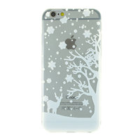 Wit winter kerst silicone iPhone 6 6s hoesje case cover
