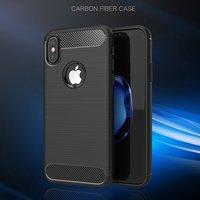 TPU-hoesje iPhone X zwarte case bescherming carbonarmor