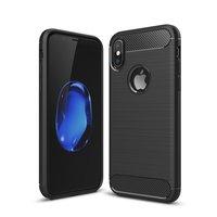 Carbon Armor hoesje iPhone X XS zwart TPU case bescherming
