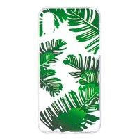 Bladeren TPU hoesje doorzichtig iPhone X XS cover groen natuur case