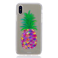 Kleurrijk ananas hoesje iPhone X XS cover fruit doorzichtig