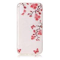 Bloesem doorzichtig iPhone X XS TPU hoesje bloemtakken bloemen cover