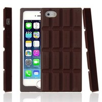 Chocoladereep 3D iPhone 5 5s SE hoesje case cover chocolade bar