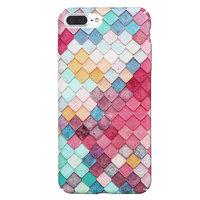 Gekleurde schubben hardcase iPhone 7 Plus 8 Plus hoesje cover