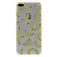 Doorzichtig banaan iPhone 7 Plus 8 Plus hoesje banana fruit cover