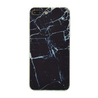 Zwart marmer TPU hoesje iPhone 7 Plus 8 Plus marble cover