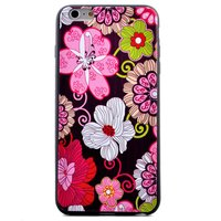 Flower Power bloemen iPhone 6 6s hoesje case cover