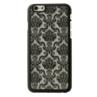 Zwart Barok hoesje iPhone 6 6s hardcase case henna damask flower