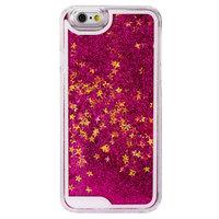 Doorzichtig paars bewegend glitter hoesje iPhone 6 Plus 6s Plus case cover