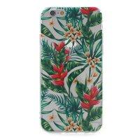 Transparant jungle bloemen TPU iPhone 6 6s hoesje case cover bladeren