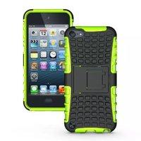 Shockproof groen iPod Touch 5 6 hoesje standaard case cover