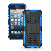 Shockproof blauw iPod Touch 5 6 7 hoesje standaard case cover