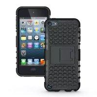 Shockproof zwart iPod Touch 5 6 7 hoesje standaard case cover