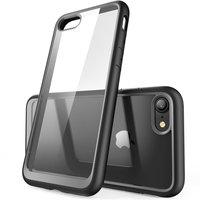 Stevige beschermhoes doorzichtig zwart iPhone 7 8 SE 2020 case