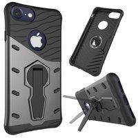 Zwart grijze Armor hybride kickstand iPhone 7 8 hoesje case cover