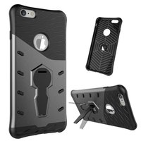 Zwart grijze Armor kickstand iPhone 6 Plus 6s Plus hoesje case cover