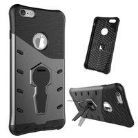 Zwart grijze Armor hybride kickstand iPhone 6 Plus 6s Plus hoesje case cover