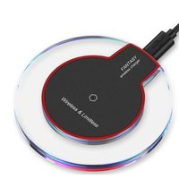 Universele transparante draadloze Qi oplaad pad oplader wireless charger