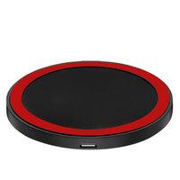 Universele draadloze zwarte rode ring Qi oplaad pad