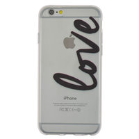 TPU doorzichtig hoesje iPhone 6 6s love cover