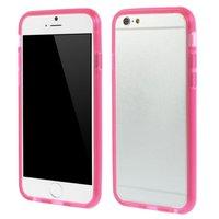 Roze transparante bumper hoesje iPhone 6 6s bescherming case
