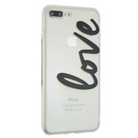 Love case doorzichtig hoesje iPhone 7 Plus 8 Plus transparant cover TPU