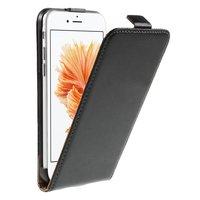 Lederen hoesje iPhone 6 6s flipcase beschermend zwart cover