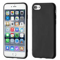 Mat zwart zakelijk TPU iPhone 7 8 hoesje case cover
