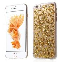 Doorzichtig TPU hoesje Snippertje bladgoud iPhone 6 Plus 6s Plus Gouden cover