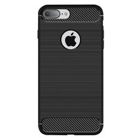 Zwart Carbon Armor iPhone 7 Plus 8 Plus TPU hoesje