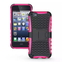 Shockproof roze iPod Touch 5 6 7 hoesje standaard case cover