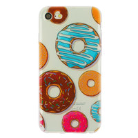 Doorzichtig donut TPU hoesje iPhone 7 8 case