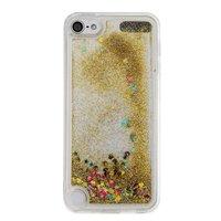 Doorzichtig hoesje iPod Touch 5 6 goud glitter bewegend cover