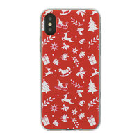 Kerst hoesje iPhone X XS rood case Christmas cover