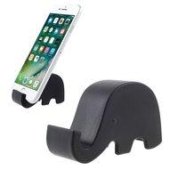 Mobiel houder olifant zwart iPhone standaard slurf universeel