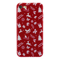 Kerst hoesje rood iPhone 7 8 TPU Christmas case Red Kerstmis cover