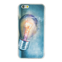 Gloeilamp iPhone 6 6s TPU case cover - Industrieel Lightbulb hoesje
